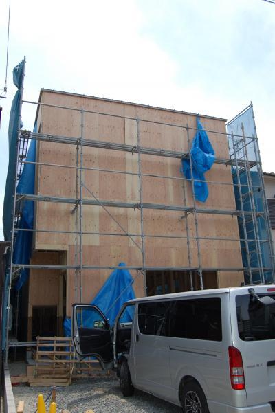 中川の家(建て方)